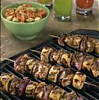 jerk chicken plantain kabob
