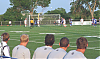 Thunder players watch a home corner kick