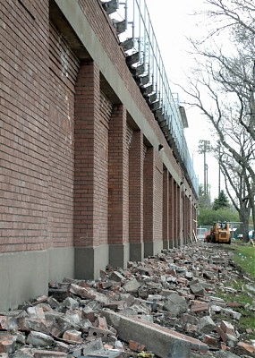 Demolition of north wall