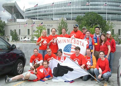 Some of the Minnesota 1st gather before the match