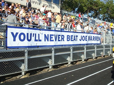 Banner for Joe Warren