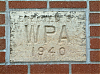 WPA sign on east wall